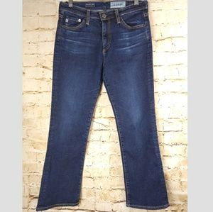 AG Jeans The Jodi Crop High Rise Slim Flare Sz 28